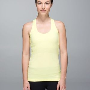 Lululemon Swiftly Tech Tank Heathered Sheer Lemon